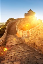 Preview iPhone wallpaper The Great Wall, sunrise, China
