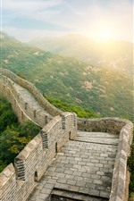 Preview iPhone wallpaper Travel to China, The Great Wall, sunrise