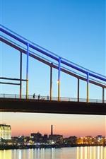 Preview iPhone wallpaper Ukraine, Kiev, bridge, lights, river, city