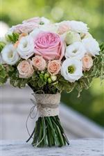 iPhone обои Букет, цветы, роза, туманный фон
