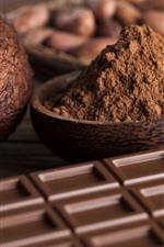 Aperçu iPhone fond d'écranChocolat, cacao, poudre, noix