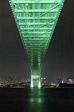Aperçu iPhone fond d'écranVille, nuit, pont, rivière, Tokyo, Japon