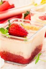Aperçu iPhone fond d'écranDessert, fraise, crème, fleurs