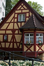 Preview iPhone wallpaper Germany, Mersburg, house