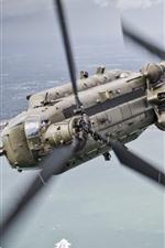 iPhone обои Вертолет, полет, море