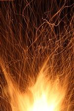 Aperçu iPhone fond d'écranVacances, feu d'artifice, étincelles