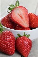 iPhone обои Одна миска из клубники, ягоды, фрукты