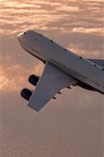 Aperçu iPhone fond d'écranPlan de passager, vol, ciel, nuages