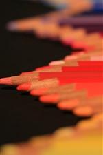 Aperçu iPhone fond d'écranCrayons rouges, brumeux