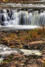 Cachoeiras, córrego da água, paisagem da natureza