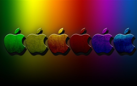 Wallpaper 3D Apple Colorful background 1920x1200 HD Picture