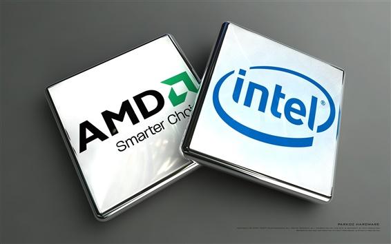 Fond d'écran AMD et Intel