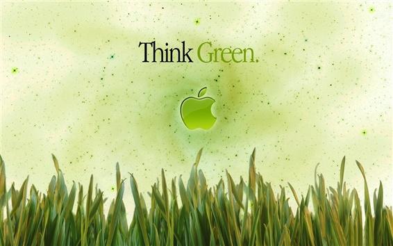 Wallpaper Apple Think Green