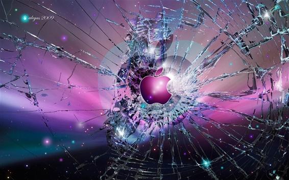 Wallpaper Apple broken screen background