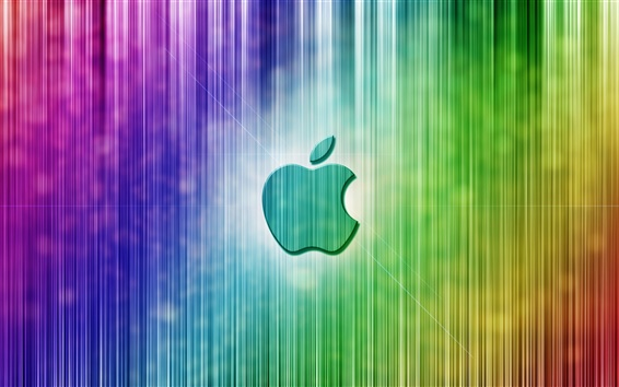 Wallpaper Apple colorful vertical stripes