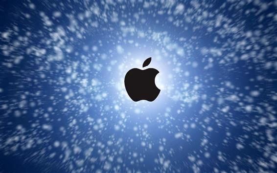 Wallpaper Apple in the blue sky