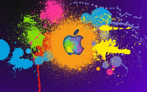 Wallpaper Apple paint colorful
