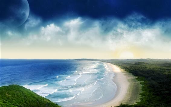Wallpaper Boundless marginal coastline