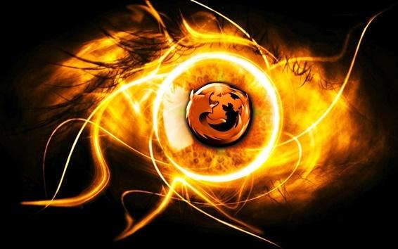 배경 화면 불타는 파이어 폭스