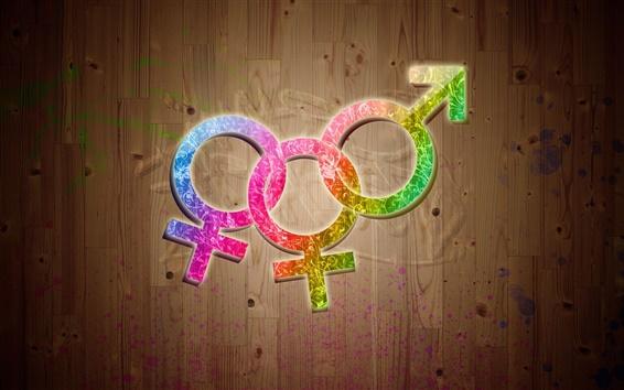 Wallpaper Colorful 3D Symbols