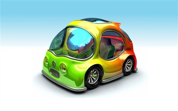 Wallpaper Colorful 3D car