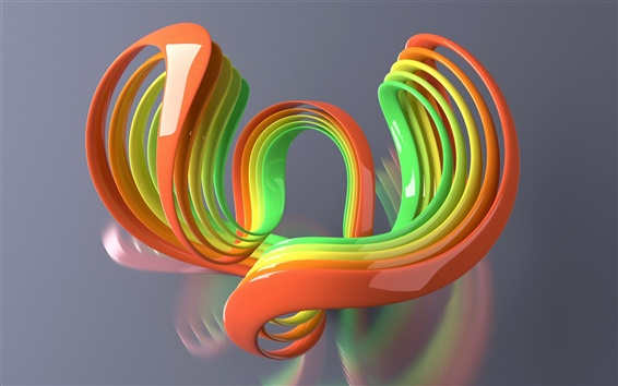 Wallpaper Colorful 3D curve