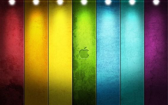 Обои Красочный Apple в центре внимания