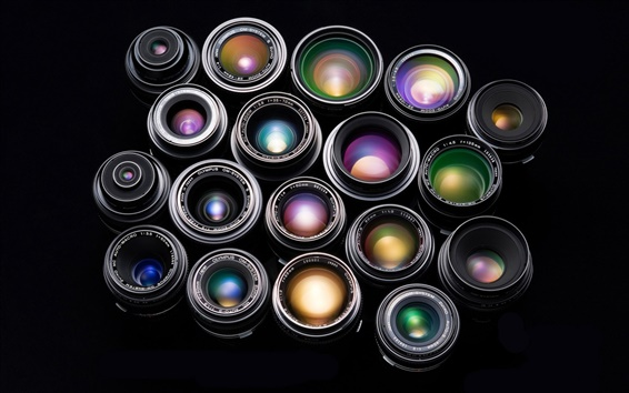 Wallpaper Colorful combination of camera lens