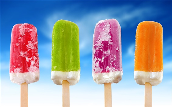 Wallpaper Colorful ice cream popsicle
