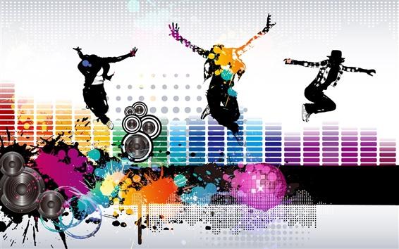 Обои Красочный музыку весь вектор