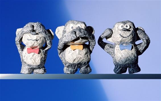 Hintergrundbilder Netter Affe aus Papier