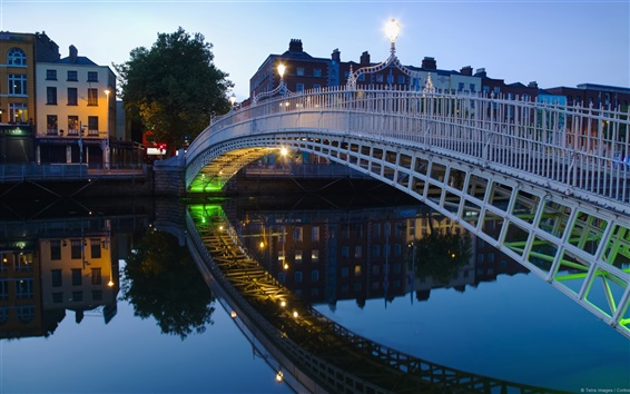 Wallpaper Halfpenny bridge Dublin Ireland