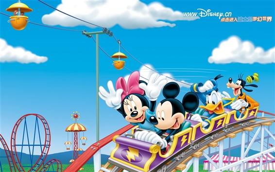 Wallpaper Happy Roller Coaster