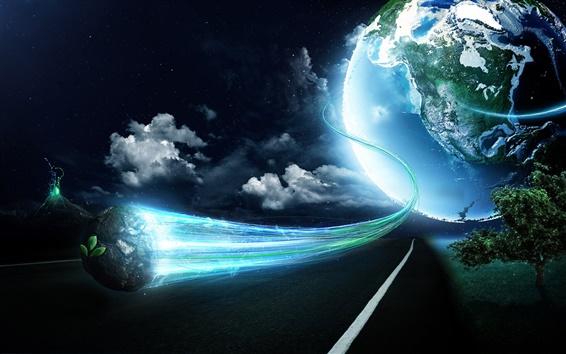 배경 화면 마법 지구