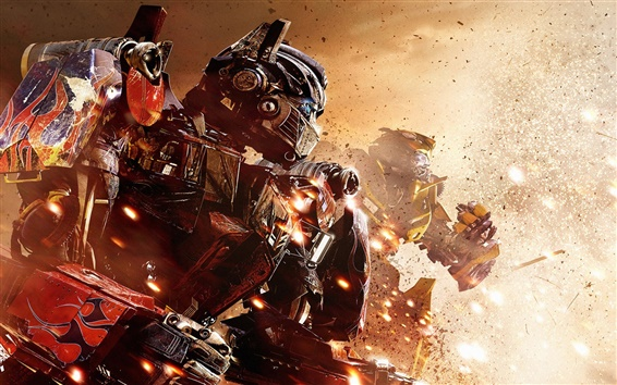 Wallpaper Optimus Prime and Bumblebee in Transformers 3