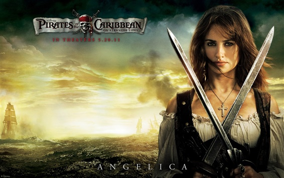 Wallpaper Pirates of the Caribbean 4 Angelica