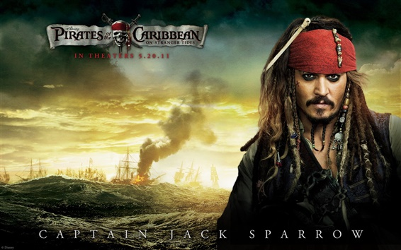 Wallpaper Pirates of the Caribbean 4 Captain Jack Sparrow