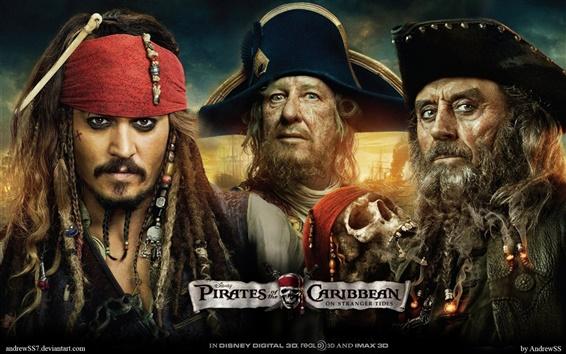 Fondos de pantalla Piratas del Caribe 4 Tres piratas
