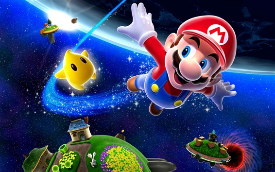 Wallpaper Super Mario 3D modeling