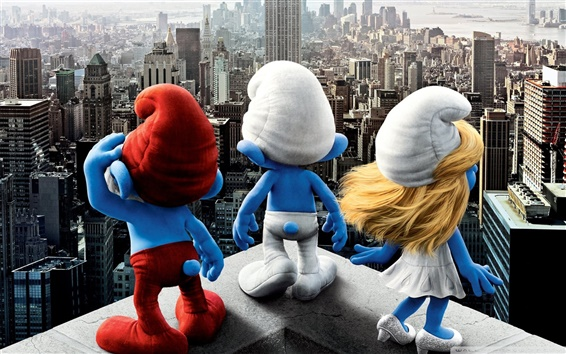 Wallpaper The Smurfs 2011