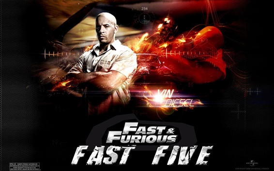 Wallpaper Vin Diesel in Fast Five