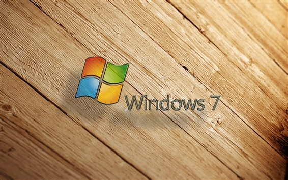 Обои Windows7 деревянный фон