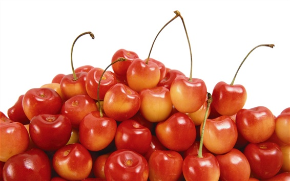 Wallpaper s sweet and sour red cherry