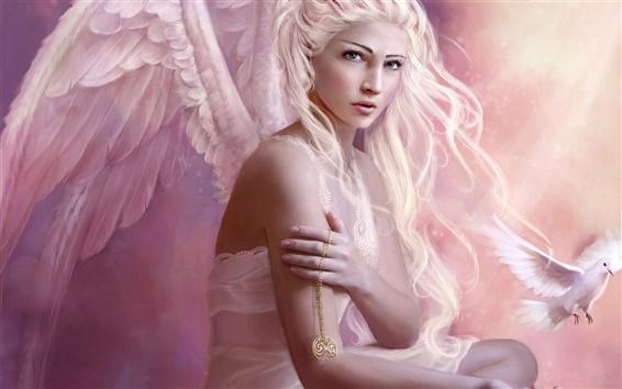 Fond d'écran Cheveux d'ange fille blanche