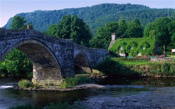 Обои Арочный мост в Уэльсе