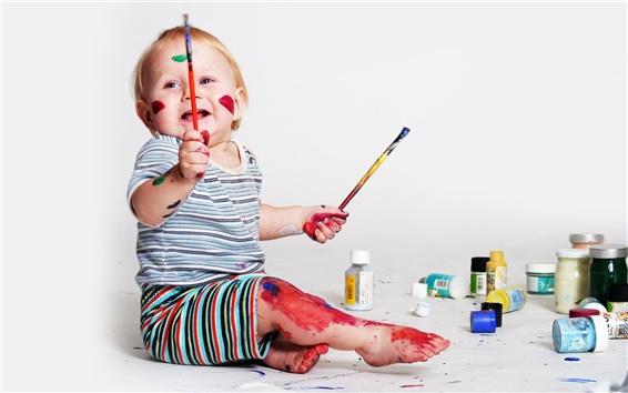 Wallpaper Baby drawing