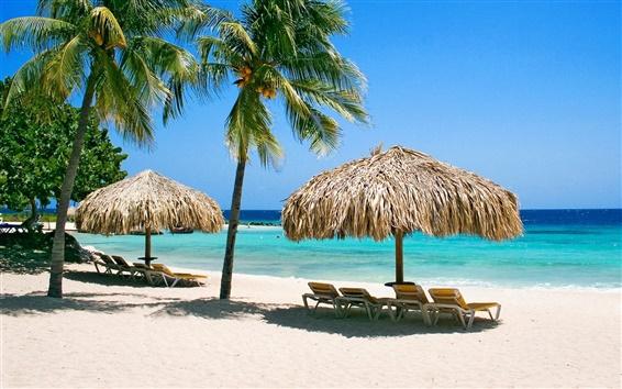 Обои Пляж павильон для отдыха