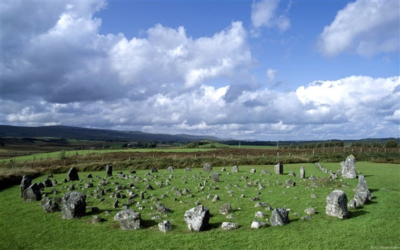 Wallpaper Beaghmore Stone Circles Northern Ireland