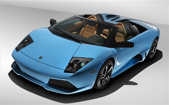 Wallpaper Blue Lamborghini Murcielago