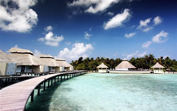壁紙 チャーヤサンゴ礁の木の家